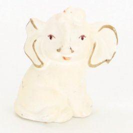 Keramická dekorace bílý sloník