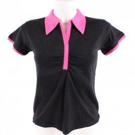 Dámské tričko Vanny Fashion černé s růžovou