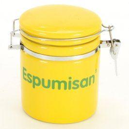Dóza žlutá s nápisem Espumisan