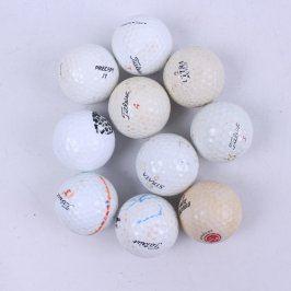 Golfové míčky různé značky 10 ks