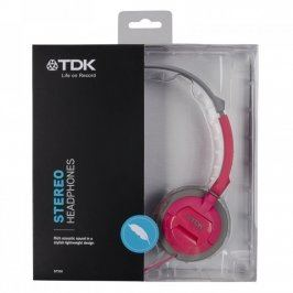 Sluchátka TDK ST100 růžové