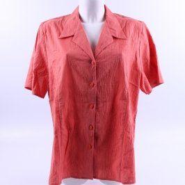 Dámská košile Baty Fashion cihlová s květy
