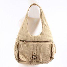 Dámská kabelka na zip odstín béžové