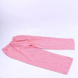 Dámské kalhoty růžové kárované