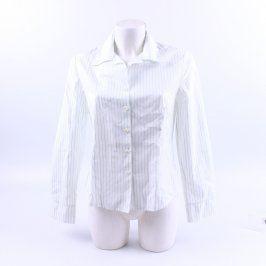 Dámská košile bílá s jemným modrým proužkem