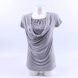 Dámské triko šedé s krátkým rukávem
