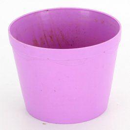 Obal na květináč plastový fialový