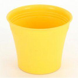 Obal na květináč plastový žlutý průměr 11 cm
