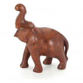 Dřevěná soška slon v délce 11 cm