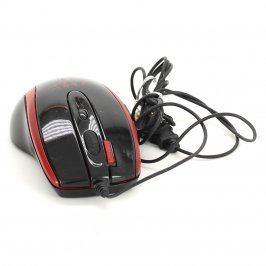 Laserová myš MSI X-750F černo-červená