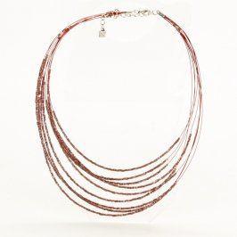 Dámský náhrdelník obruč s kamínky