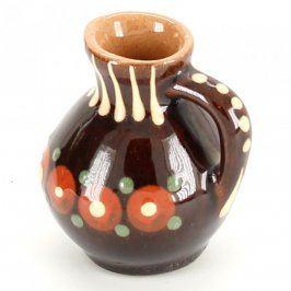 Keramický malovaný džbán s uchem