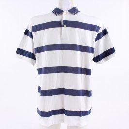 Pánské tričko Bancroft polo bílé s pruhy