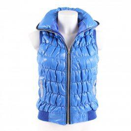 Dětská vesta modrá s aplikací z bižuterie
