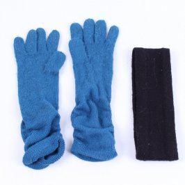 Set: prstové rukavice a čelenka