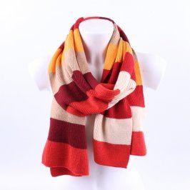 Dámská pletená pruhovaná šála