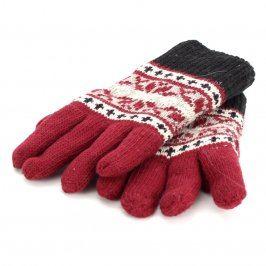 Prstové pletené rukavice se vzorem