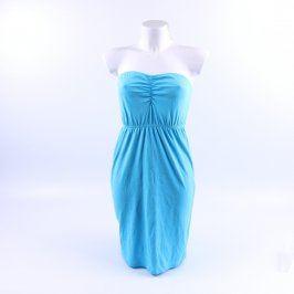 Dámské šaty Esmara modré bez ramínek