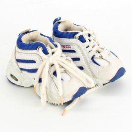 Dětská sportovní obuv bílomodré barvy