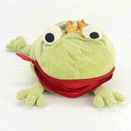 Plyšová hračka žába s otevírací pusou na zip