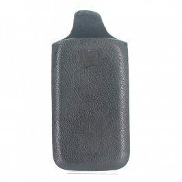 Kožené pouzdro na mobil černé