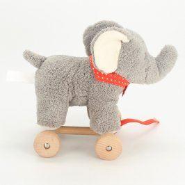 Plyšová hračka slon na kolečkách Tchibo