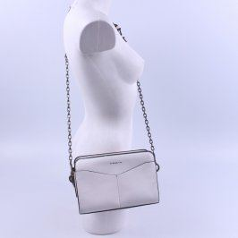 Dámská kabelka bílé barvy s nápisem