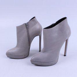 Dámské boty kotníkové odstín šedé