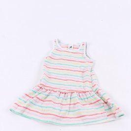Dětské šaty C&A bílé s barevnými proužky