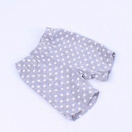 Dívčí kraťasy Lupilu šedé s bílými puntíky