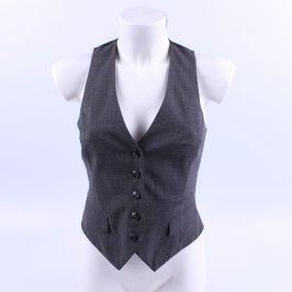 Dámská vesta H&M černá na knoflíky