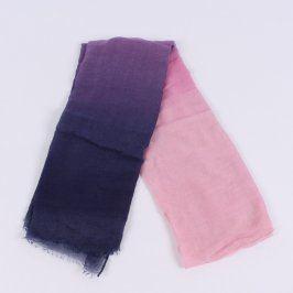 Dámský šátek modro fialovo růžový