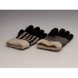 Prstové rukavice černo bílé