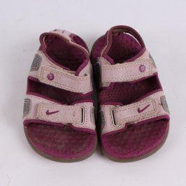 Dětské sandále Nike růžovofialové
