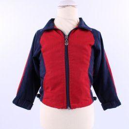 Dětská bunda červeno modrá