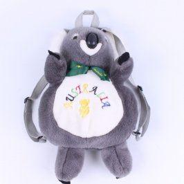Dětský batoh koala šedé barvy