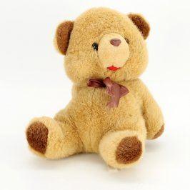 Plyšová hračka medvídek s hnědou mašličkou