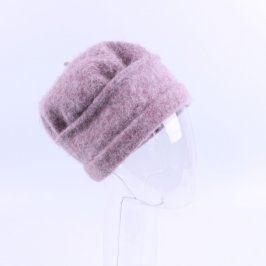 Dámská čepice odstín růžové