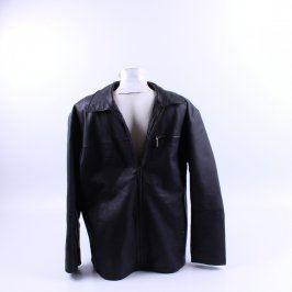 Pánská kožená bunda Angelo Litrico černá