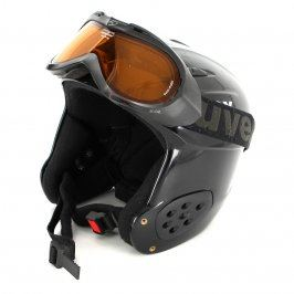 Lyžařská helma s brýlemi Uvex černé barvy