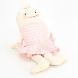 Látková panenka růžové barvy