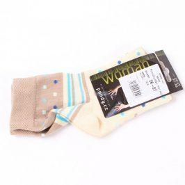 Dámské ponožky Centex béžové s puntíky