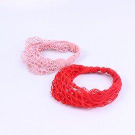 Síťky do vlasů 2 ks růžová a červená
