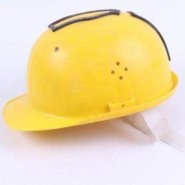 Ochranná pracovní helma žlutá