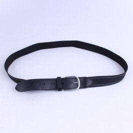 Gumový pásek se sponou černé barvy