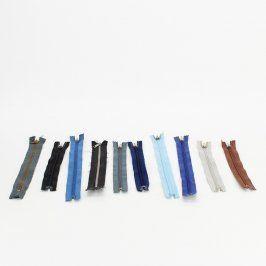 Zipy 10 ks různých typů a barev