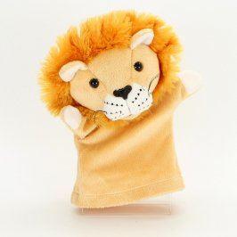 Plyšový maňásek lvíček hnědý
