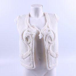 Dámská pletená vesta bílá