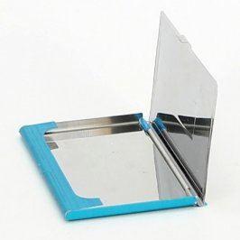 Pouzdro na vizitky kovové modré