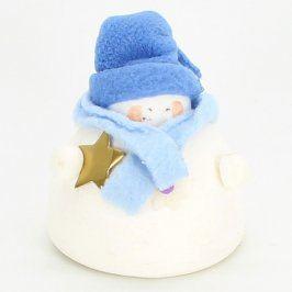 Dekorace sněhulák s čepičkou